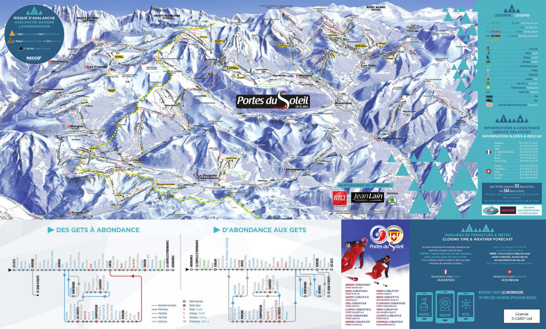 Avoriaz Piste Map