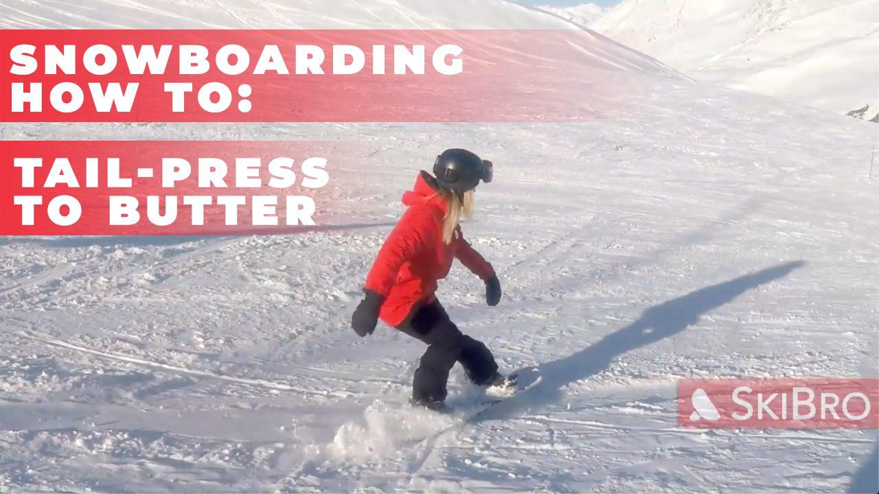 snowboard tailpress to butter