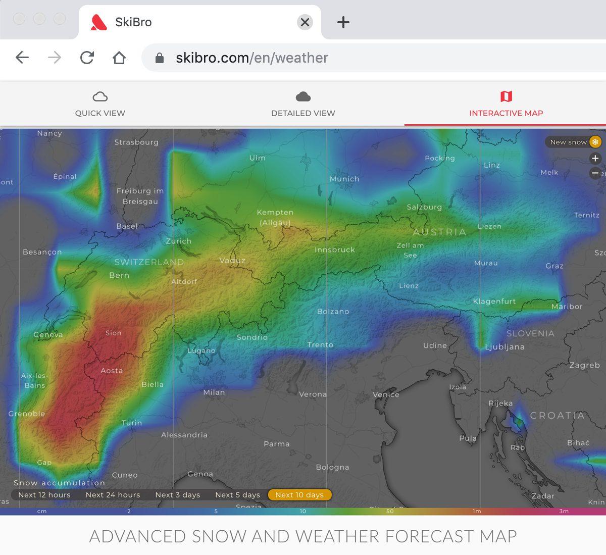 Snow Forecast Dec 7 2019